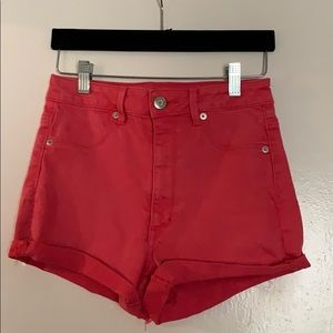 American Eagle Outfitters Red High Waist Shortie